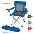 Mesh Folding Chair With Carrying Bag - Mesh folding chair with carrying bag and 2 mesh cup holders.