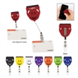 """Screen Buddy Retractable Badge Holder - 1 5/8"""" x 2"""" badge holder with a 31"""" retractable cord, clip on the backside and cleaning tool"""