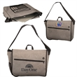 """Strand™ Messenger with Laptop Sleeve - Messenger bag made of durable heathered 600D Snow """"Canvas"""" Polyester with large zipper pocket on front, and organizer pocket revea"""