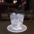 """LED 5"""" Drink Coaster - 5"""" acrylic plastic drink coaster with super bright white LED lights."""
