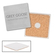 Stainless Steel Square Beverage Coaster - Stainless steel square beverage coaster.