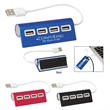 4-Port Aluminum Wave USB Hub - 4-Port Aluminum Wave USB Hub connects to multiple power sources at once!
