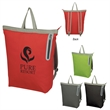 """Gemini Backpack Tote Bag - 15 3/4"""" x 16 3/4"""" tote bag made of nylon with a polyester lining and adjustable shoulder straps"""