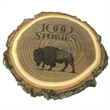 Natural Wood Log Coaster - Set of 4 - Eco-friendly set of 4 beverage coasters made from elm logs.