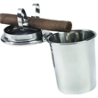 Stinky Cigar Car Ashtray, Stainless Steel - A revolutionary cigar ashtray that fits in any standard car cup holder