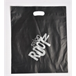 Die Cut Handle Plastic Bag  Frosted - Frosted die cut plastic shopping bags.