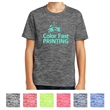 Sport-Tek Youth PosiCharge Electric Heather Tee - Snag-resistant, moisture-wicking youth T-shirt made of 100% polyester jersey with PosiCharge technology.