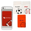 Sport Theme Silicone Pocket - Silicone sport-theme smartphone wallet with removable adhesive back.