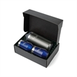 Aviana™ Bordeaux Gift Set - Gift set of two 12 oz. insulated stainless steel wine tumblers and one double-wall stainless steel bottle cooler.