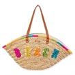 """Shoulder Tote - Shoulder Tote natural straw bag.  22"""" x 7"""" x 12""""."""