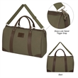 Safari Weekender Duffel Bag - Cotton canvas duffel bag with detachable/adjustable padded shoulder strap, zippered main compartment, carry handles and more.