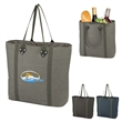 "Ace Cooler Tote Bag - Ace cooler tote bag with PVC backing, PEVA lining, 22"" handles, and a zippered main compartment."