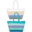 Shoulder Tote - Beach Basket Shoulder Tote bag.  Non closure.  Available in 2 colors.