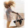 "Shoulder Tote - Natural Straw Shoulder Tote Drawstring bag.  19""x 7.5""x 13"""