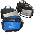 The AI Computer Brief Bag - Briefcase-style bag made of 600D Polyester with PVC coating and includes laptop sleeve in zipper main compartment.