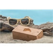 Bamboo Sunglasses with Case - Bamboo constructed  sunglasses with UV400 protection and sliding top bamboo case.
