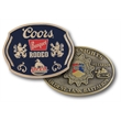 Cast Metal Belt Buckle - 3D belt buckle cast with lead free zinc alloy, hand polished & hand painted.