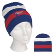 Patriotic Knit Beanie - 100% acrylic beanie designed with patriotic colors; one size fits all.