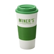 Commuter Tumbler - 16 oz tumbler with silicone comfort grip and matching lid. BPA free.