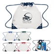"Touchdown Clear Drawstring Backpack - Small clear drawstring backpack; made of PVC; 12"" W x 12"" H."