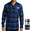Port Authority Plaid Flannel Shirt - Plaid long sleeve shirt made of 60% cotton and 40% polyester flannel with open collar that's lightly brushed for softness
