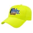 Fluorescent Safety Cap - Medium profile six panel structured fluorescent safety cap.