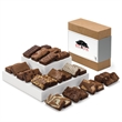 Custom Sprite 24 - Snack size brownies, 2 each of 12 flavors in a gift box with your full-color logo on the band.