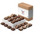 Custom Morsel 24 - Bite size brownies, 4 each of 6 flavors.