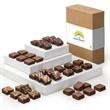 Custom Morsel 36 - Brownies, 6  of each, Original, Caramel, Chocolate Chip, Cream Cheese, Raspberry Swirl and Walnut.