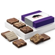 Custom Brownie Eight - Eight brownies tucked inside a purple box with your full-color logo on the gift band.