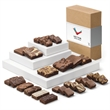 CUSTOM DELUXE MEDLEY - Three sizes of brownies for every appetite. A great office gift!