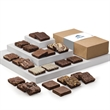 Custom Double Dozen - Full-size brownies, 2 each of 12 flavors in a box with your full-color logo or photo on the band.