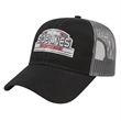 Two-Tone Mesh Back Cap - Top Performer! Medium profile six panel structured cap. Cotton twill with mesh back. Adjustable white plastic snap tab closure.