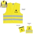 Reflective Safety Vest - Reflective vest with zippered pouch.