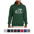 Sport-Tek Pullover Hooded Sweatshirt - Pullover hooded sweatshirt made from 65% ringspun combed cotton/35% polyester fleece.