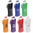 Flip Top Foldable Water Bottle with Carabiner - Water bottle with easy to use flip top.