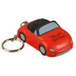 Convertible Car Stress Reliever Key Chain - Convertible car shape stress reliever with key chain.