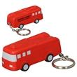 Fire Truck Stress Reliever Key Chain - Polyurethane fire truck key chain.