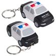 Police Car Stress Reliever Key Chain - City police car key chain shape stress reliever.