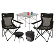 Coleman Super Fan Tailgating Package - Tailgating set that includes a charcoal grill, compact table, 34-can collapsible cooler and two quad chairs from Coleman