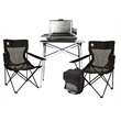 Coleman Tailgating Essentials Package - Tailgating set that includes a tabletop grill, tailgating table, 34-can collapsible cooler and two quad chairs from Coleman
