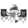 Coleman Deluxe Tailgating Brew Package - Tailgating set that includes a propane grill, table, cooler on a stand, two chairs, two tumblers and more from Coleman