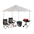 Coleman Major League Tailgating Package - Tailgating set with an instant shelter, grill, 54-can collapsible cooler, two can coozies and two quad chairs from Coleman