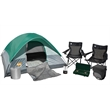 Coleman Getaway Camping Package - Camping set with 9' x 7' four-person tent, lantern, two sleeping bags, cooler, stove and two chairs from Coleman