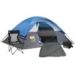 Coleman Solo Camping Package - Camping set that includes a 7' x 5' two-person tent, cooler, quad chair and sleeping bag from Coleman