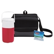 Coleman Soft Sided Cooler Package - Cooler set with a two-liter jug, 18-can collapsible cooler and one ice pack substitute from Coleman