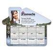 "Calendar House Magnet - 3 3/4"" x 4 11/16"" house shaped calendar magnet with four color process printing."