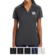 Sport-Tek Ladies' Micropique Sport-Wick Piped Polo - Women's polo shirt made from 100% polyester tricot material.