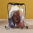 Clear Vinyl Drawstring Bag - Clear vinyl drawstring bag with customization.