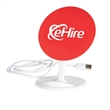"""Adjustable Wireless Charger Stand - 5.5"""" x 4.06"""" x 3"""" white wireless charger that doubles as an adjustable stand with three-foot plus long cord."""